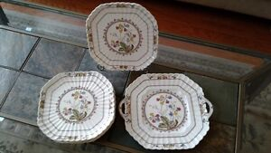 """Spode """"Cowslip"""" pattern square plates"""