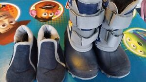 Size 6 house slippers and winter boots both for $8