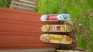 3 skateboards for sale