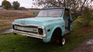 1969 c20 cab and front clip.