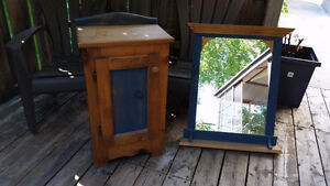 Matching MIrror and Storage Cabinet