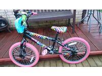 Girls kids BMX bike