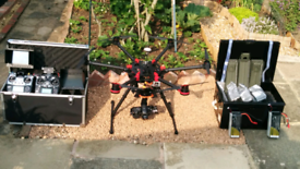 DJI S900 with Zenmuse Z15 Gimbal and 2 FPV cameras