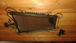 Vintage cast iron mirror