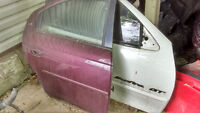BODY PARTS OFF 2002 NEON--rear trunk with spoiler with fin-