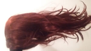 """Beautiful 28"""" burgundy/deep red full cap lace front wig"""