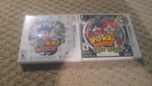 Yo-kai watch 1 and 2 for 3DS