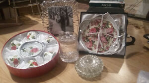 BRAND NEW DISHES ENTERTAINING/GIFTS/GLASSWARE/FRAME