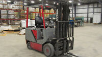 Nissan electric forklift, double stage, side shift