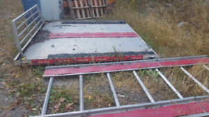 Aluminum sled deck with super clamps