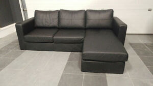 Condo Size black Sectional