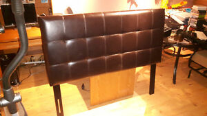 Double Brown Faux Leather Headboard and Frame Reduced by $25 Kitchener / Waterloo Kitchener Area image 1