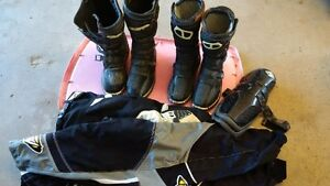 Moto boots and gear