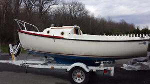 16 ft sail boat/daysailer with trailer