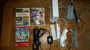 Wii system with microphone and games