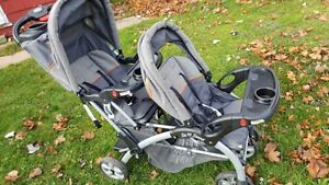 Baby trend Double Convenience Stroller -Black, price 90CAD