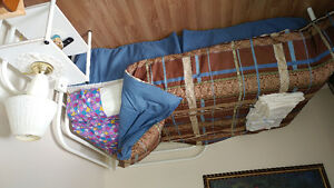 Moving. Twin bed for sale with night table.