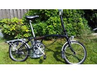 Brompton black folding bike