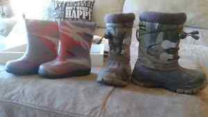 Boys boots and shoe lot