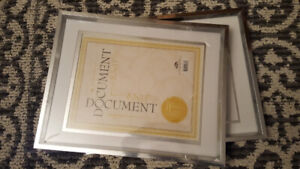 Two Sliver Metal Picture Frames