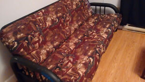 Futon with steel frame for sale $150