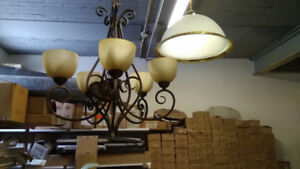 5-Lamp Chandelier with LED Bulbs