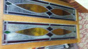 Oak framed stained glass
