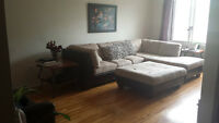 BEAUTIFUL SECTIONAL COUCH & COMFY FUTON AVAILABLE *ASAP *