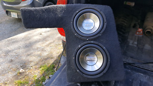 250 obo  Custom sub box for a mark 4 jetta and amp
