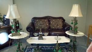 Ens tables de salon Antique Style Art Nouveau 1920-1930 marble