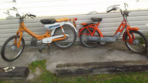 1971 Honda PC50 (Runs) + 1969 VESPA Ciao (Not running)