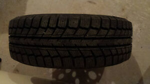 Brand new snow tires on steel rims 195 65R 15