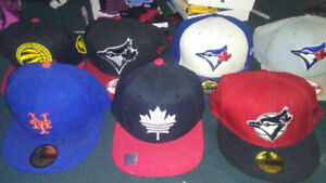 New Era and Adidas fitted and snapback hats