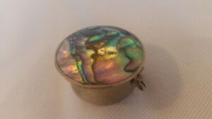 Mother of pearl mini jewellery box
