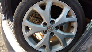 Mazda 3 17in alloy rims with good tires