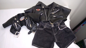 His and Hers Teddy Bear Motorcycle Jackets