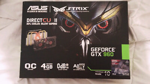 Nvidia Geforce GTX 960 Asus Strix Graphics Card