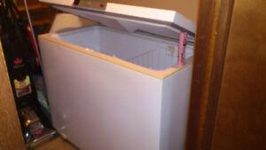 Older G. E.  medium  sized  chest freezer