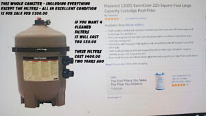 HAYWARD CANISTER FOR HOLDING 4 POOL FILTERS