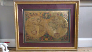 Map of the Earth  1632 AD