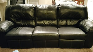 Leather couch recliners