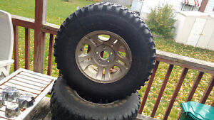 """15"""" ranger rims with 32 X 10.5 mud tires"""