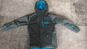 Helly Hanson Fernie Winter Ski/Board Jacket (Large, Black/Green)