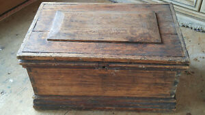 Antique Dovetailed Storage Coffee Table Chest Blanket Box