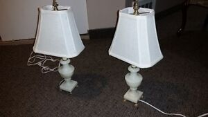 Marble Lamps (pair)