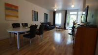 Large, bright, fully furnished and equipped 2 Bedroom - NDG