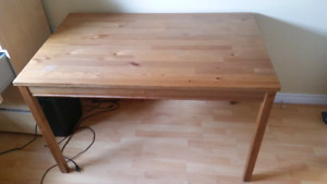 Small Ikea solid pine dining table