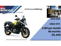 SUZUKI DL1000XAL8 V STROM NOW WITH 0% FINANCE