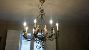 Gold Leaf Chandelier Exquisite  Large 8 light
