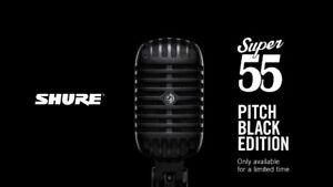 2 Micro Shure Super 55 Neuf Black Edition et Stands